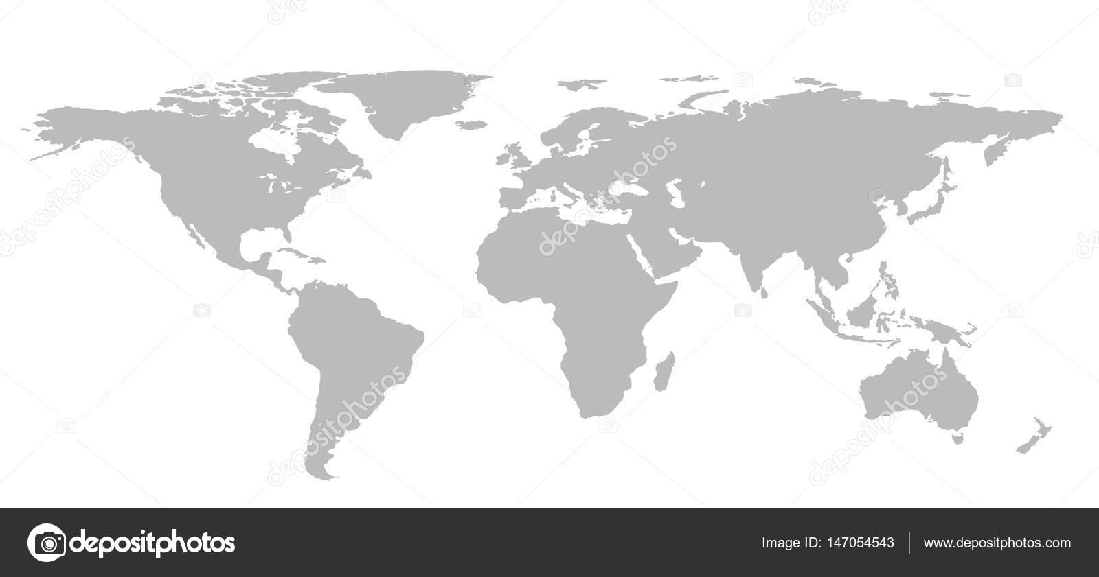 blank grey world map isolated on white background infographics illustration photo by tampatrahotmailcom