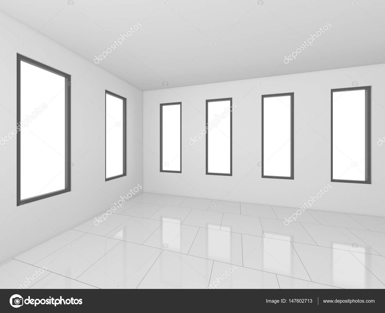3d rendering wei en leeren raum innen abbildung stockfoto tampatra 147602713. Black Bedroom Furniture Sets. Home Design Ideas