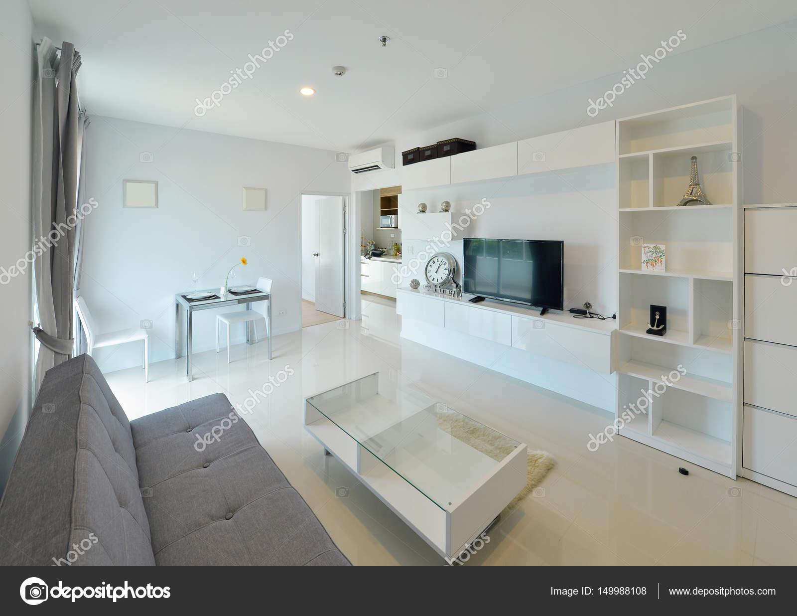 Witte luxe moderne leven interieur en decoratie interieur des