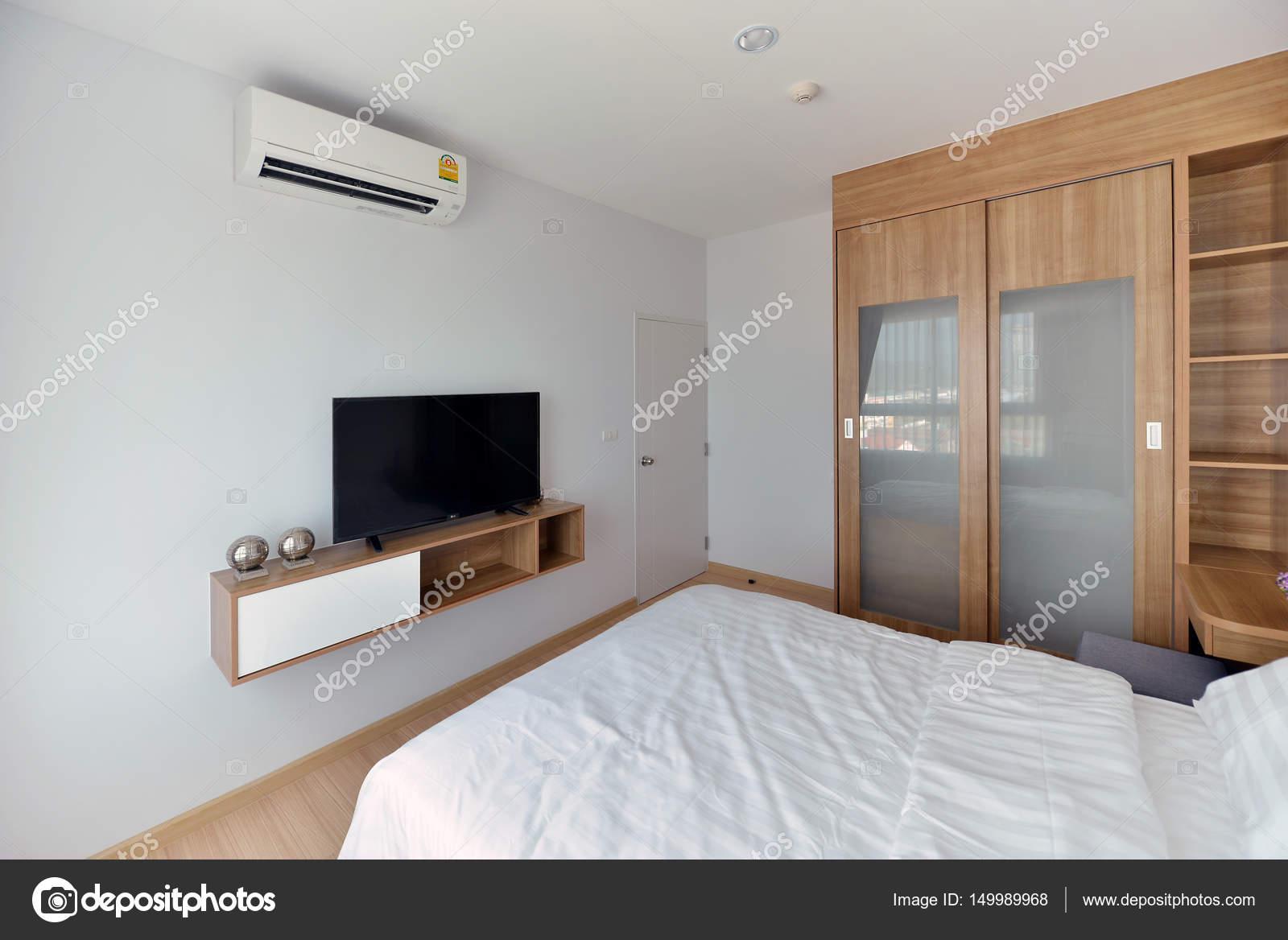 Luxe moderne slaapkamer interieur en decoratie interieur