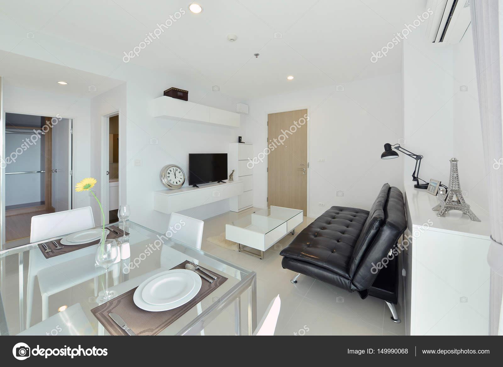 Weiße Luxus Modernes Wohnen Interieur Und Dekoration Interieur Des