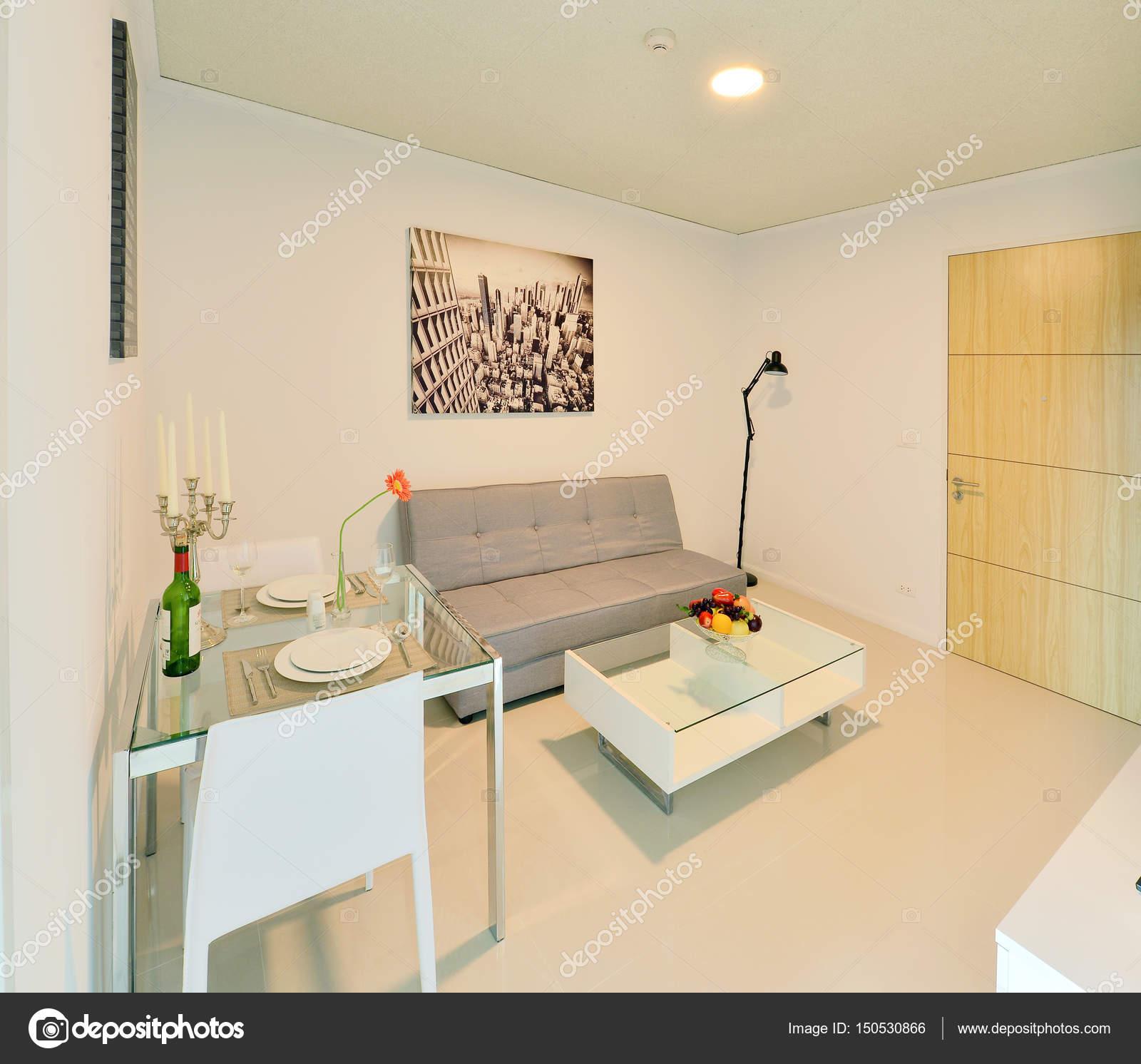 weiße Luxus modernes Wohnen Interieur und Dekoration, Interieur des ...