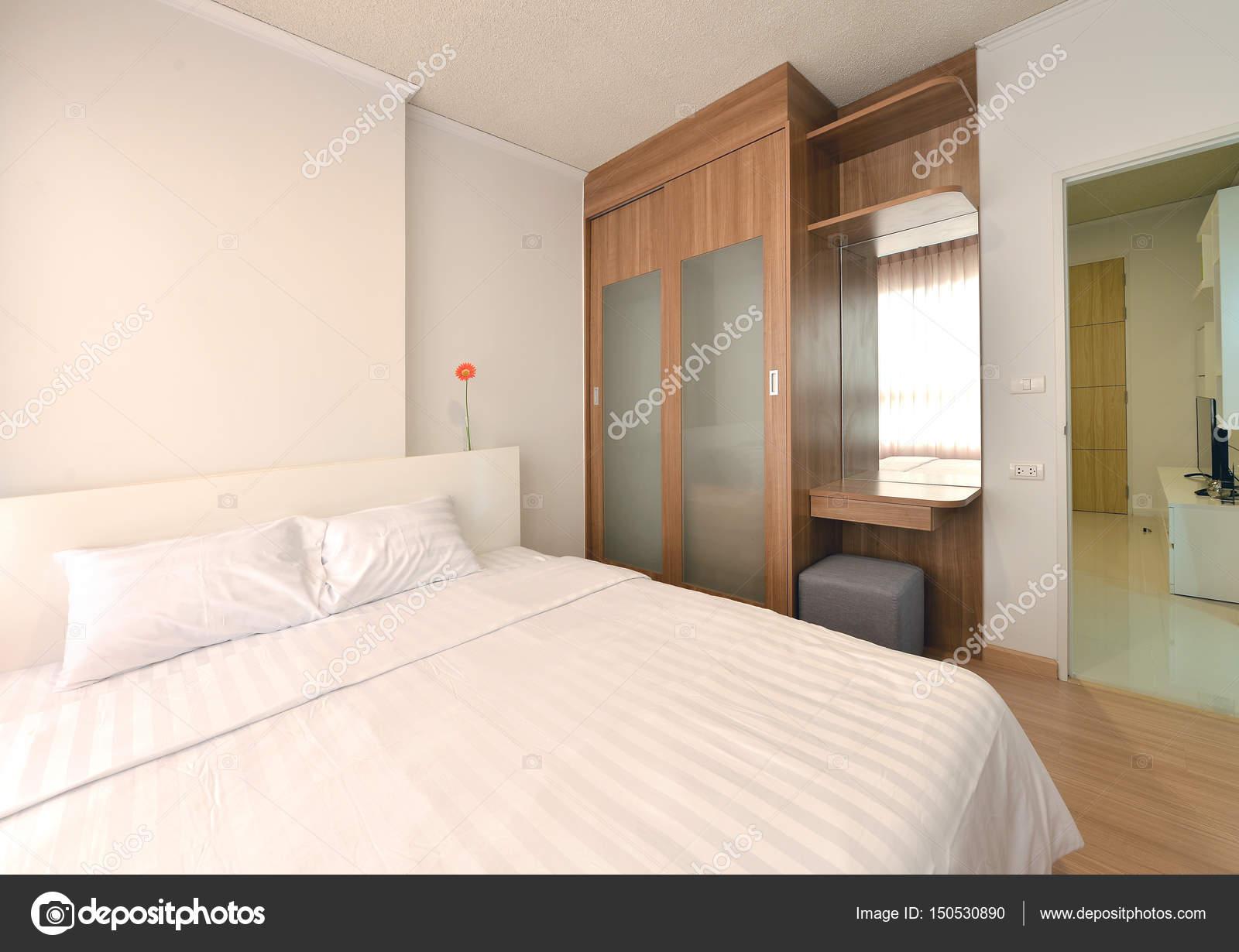 Luxus Modernen Schlafzimmer Einrichtung Und Dekoration, Innenarchitektur U2014  Stockfoto