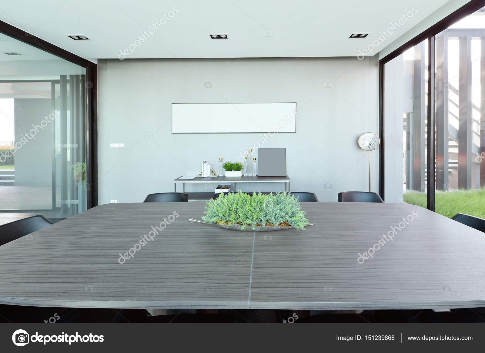 Treffen Raum Innenausstattung und Dekoration, Interieur des modernen ...