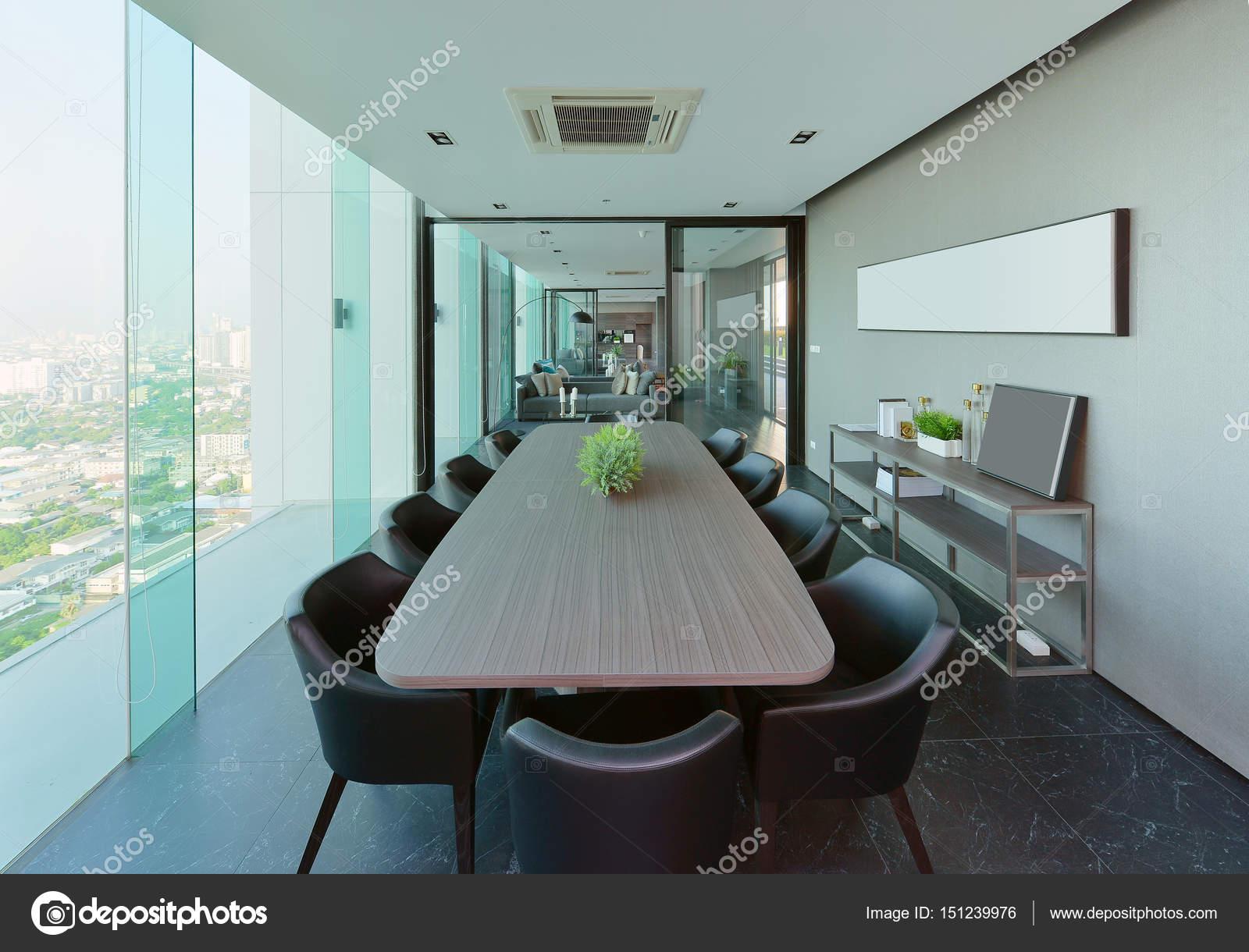 luxe moderne vergaderzalen kamer interieur en decoratie interieur des stockfoto