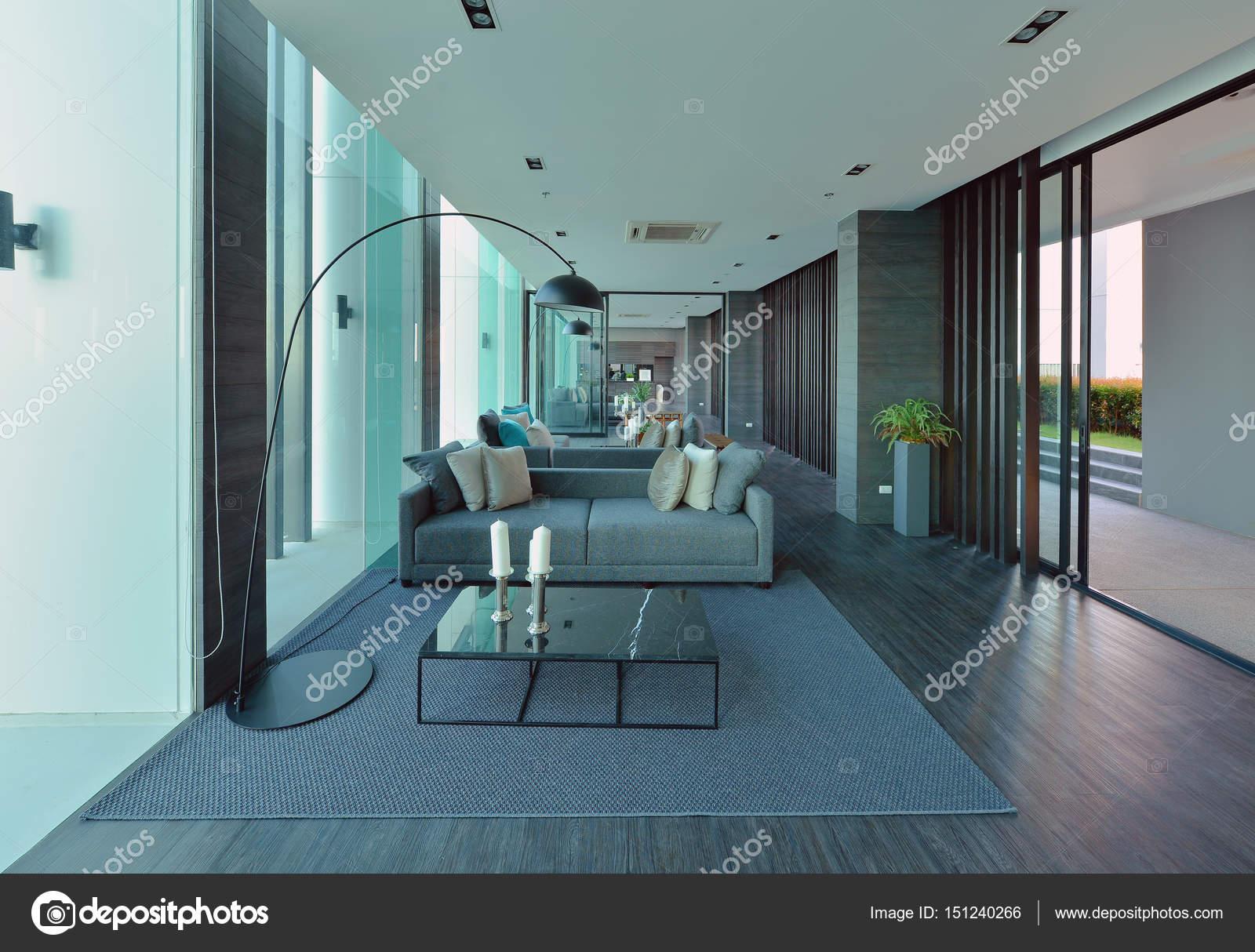 Luxus Modernen Wohnzimmer Einrichtung Und Dekoration, Interieur Desi U2014  Stockfoto