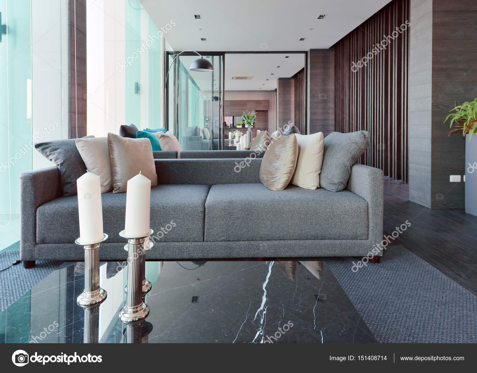 Luxe moderne woonkamer interieur en decoratie interieur desi