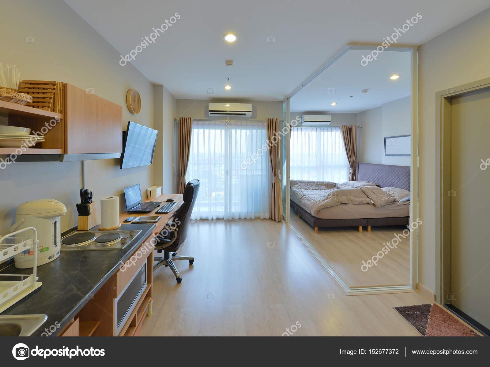 Luxo Moderno Quarto Interior E Decoração, Design De Interiores U2014 Fotografia  De Stock