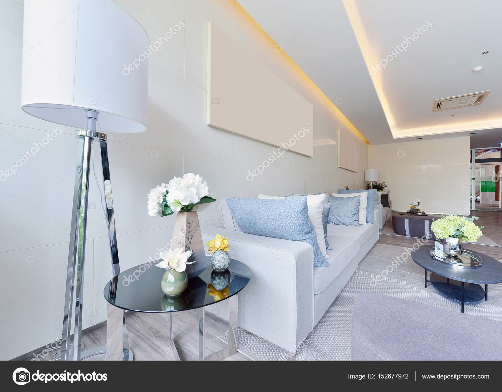 weie luxus modernes wohnen interieur und dekoration interieur des stockfoto