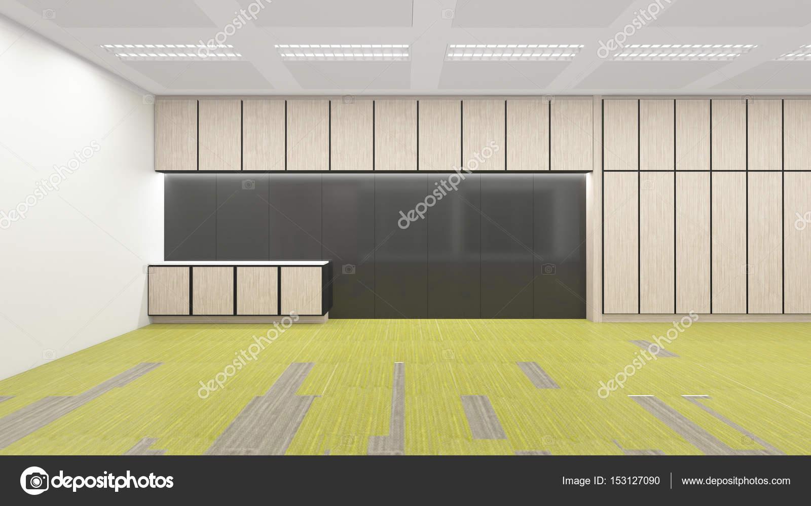 área de la cocina vacía en oficina corporativa, 3d render interio ...