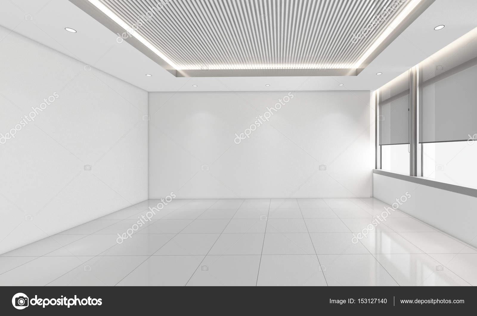 . modern empty room  3d render interior design  mock up illustrati