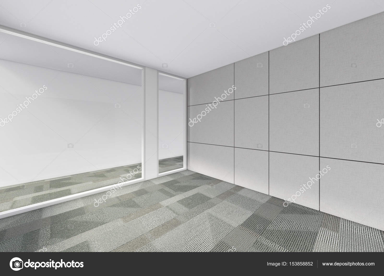 moderne leeren Raum, 3d Render-Innenarchitektur, mock-up illustrati ...