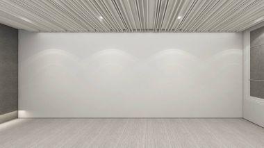Modern Empty Room, 3d render interior design, mock up illustration stock vector