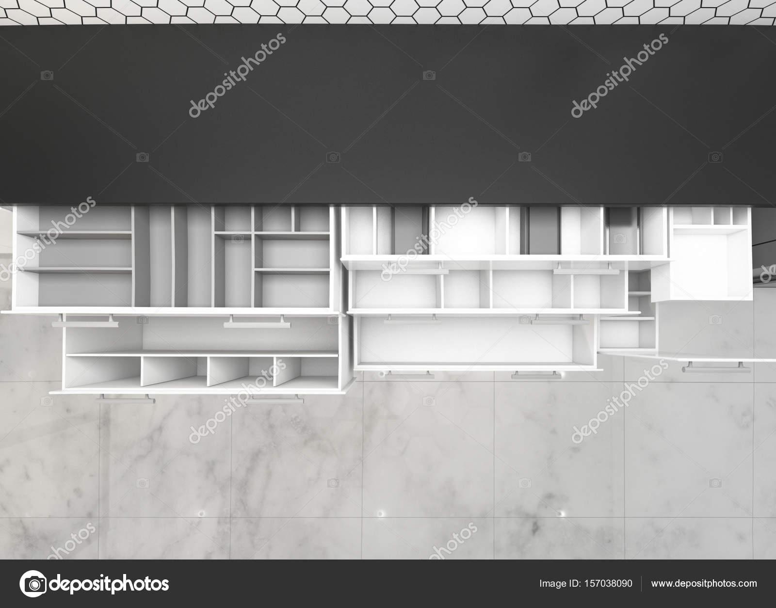 Öffnen Sie Schränke Küche Ideen, 3d Rendering-Mock-up-Konzept-design ...