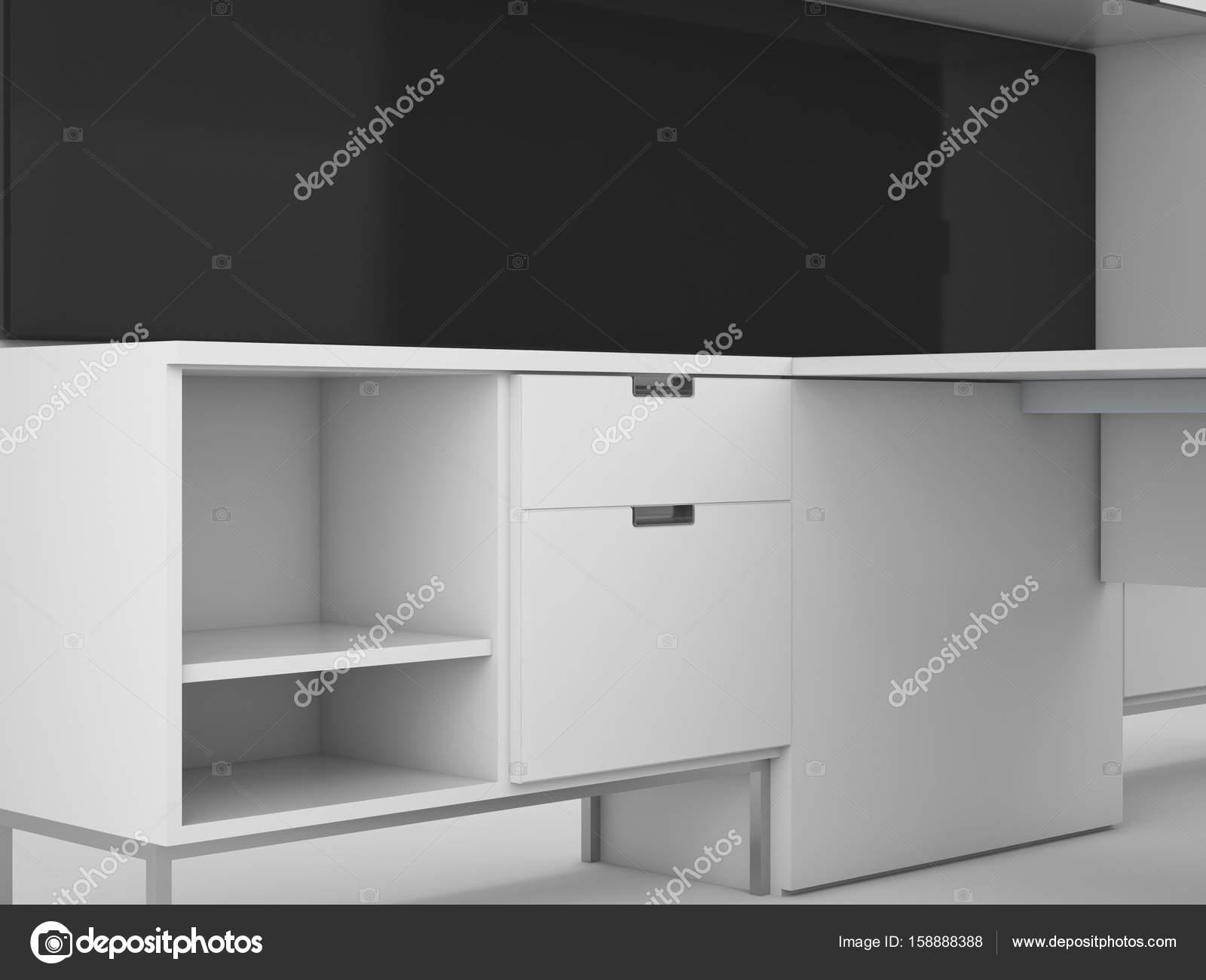 Schränke Küche Bereich Ideen, 3d Rendering-Mock-up-Konzept-design ...