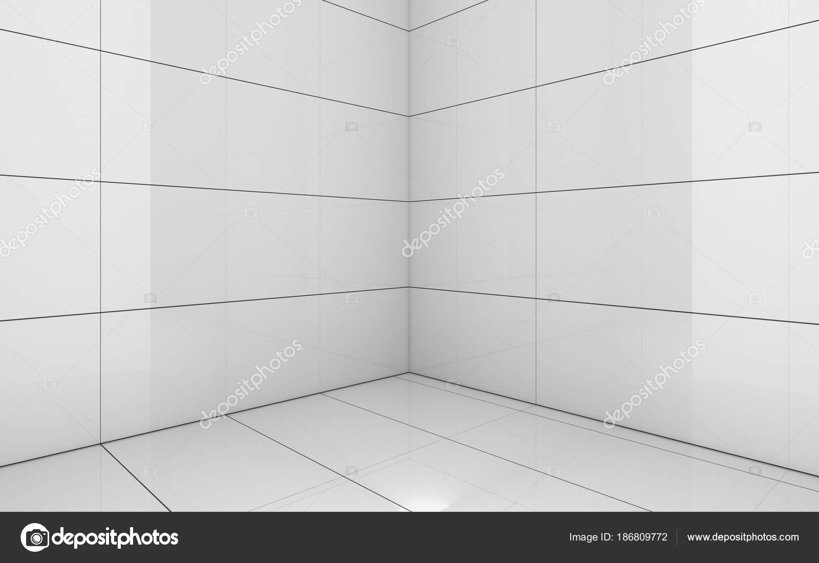 Stanza bianca delle mattonelle sfondo texture illustrazione