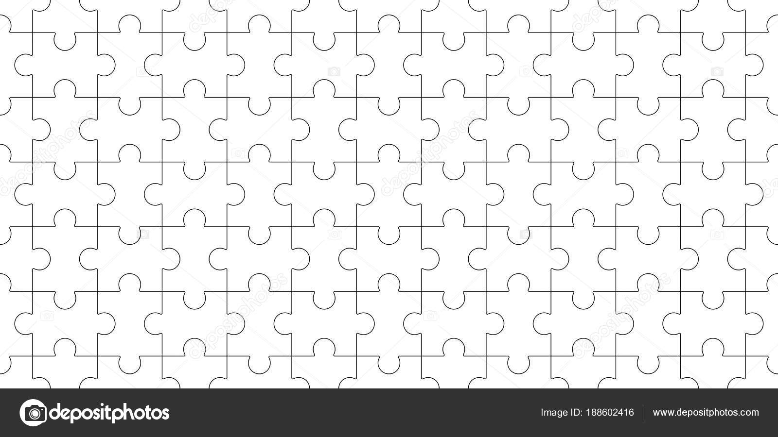 Jigsaw Puzzle Blank Template Seamless Puzzle Pattern Mosaic