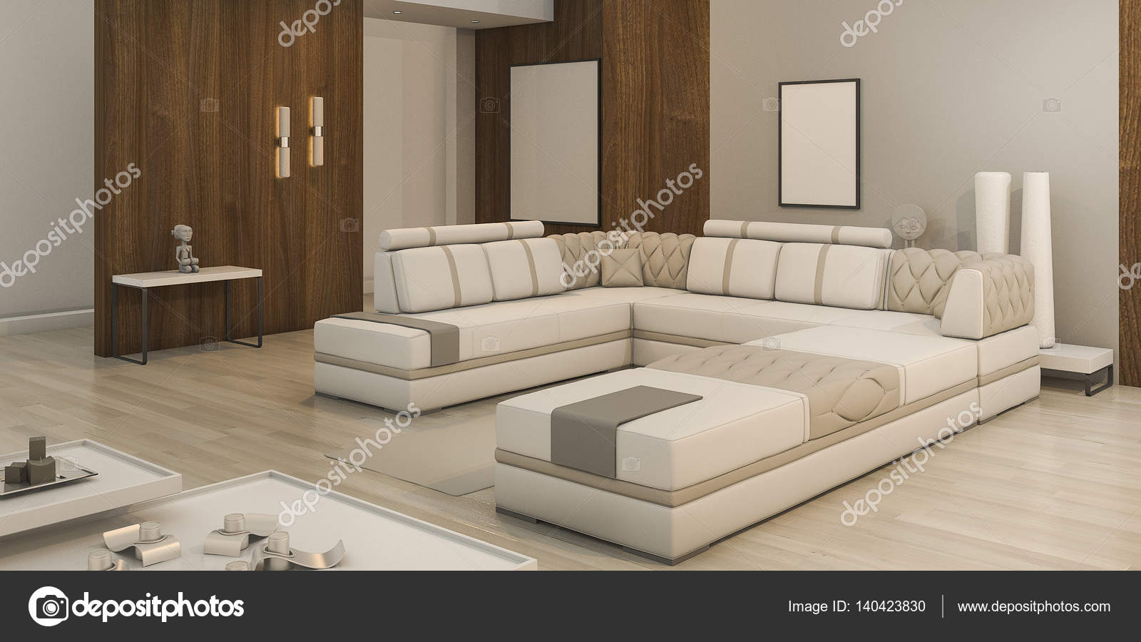 3d rendering holz textur wohnzimmer mit warmem licht und nette atmosphare stockbild