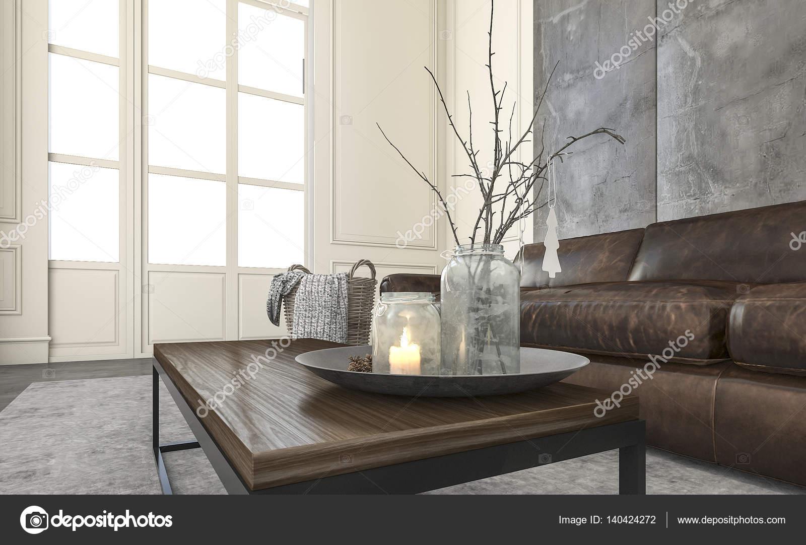 Woonkamer Accessoires Decoratie : D rendering daglicht in woonkamer met leuke decoratie en