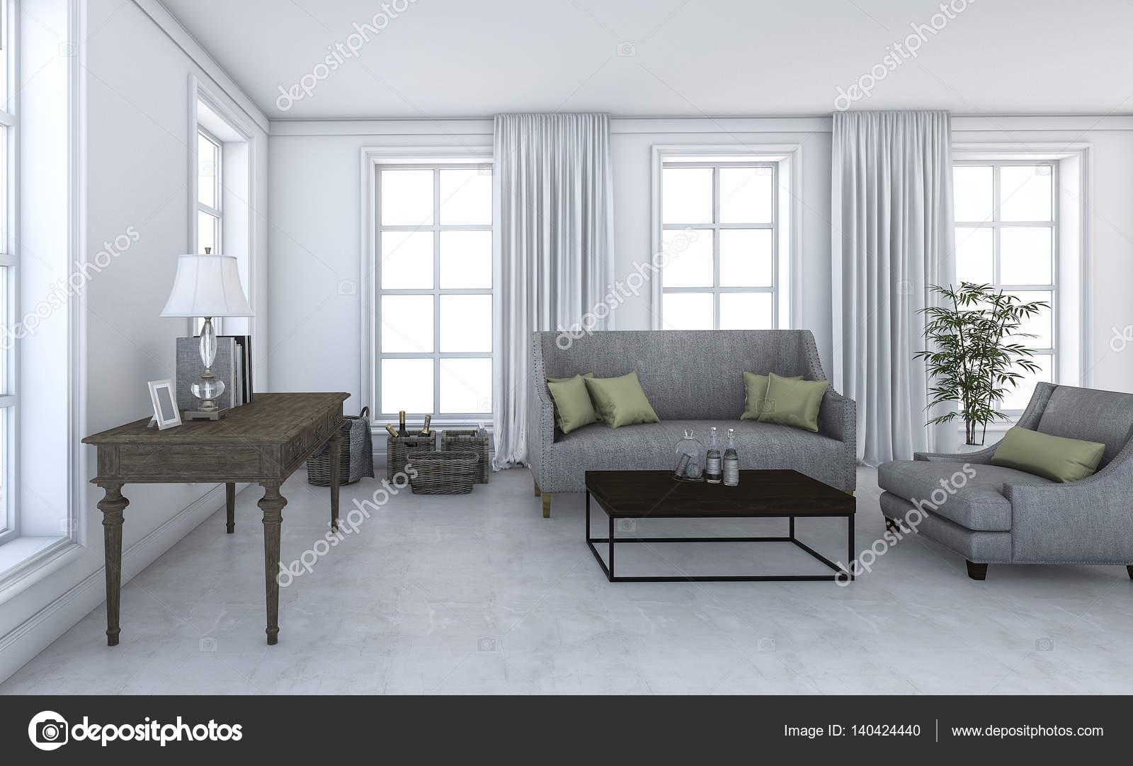 3D rendering schöne Wohnzimmer mit coole Möbel loft — Stockfoto ...