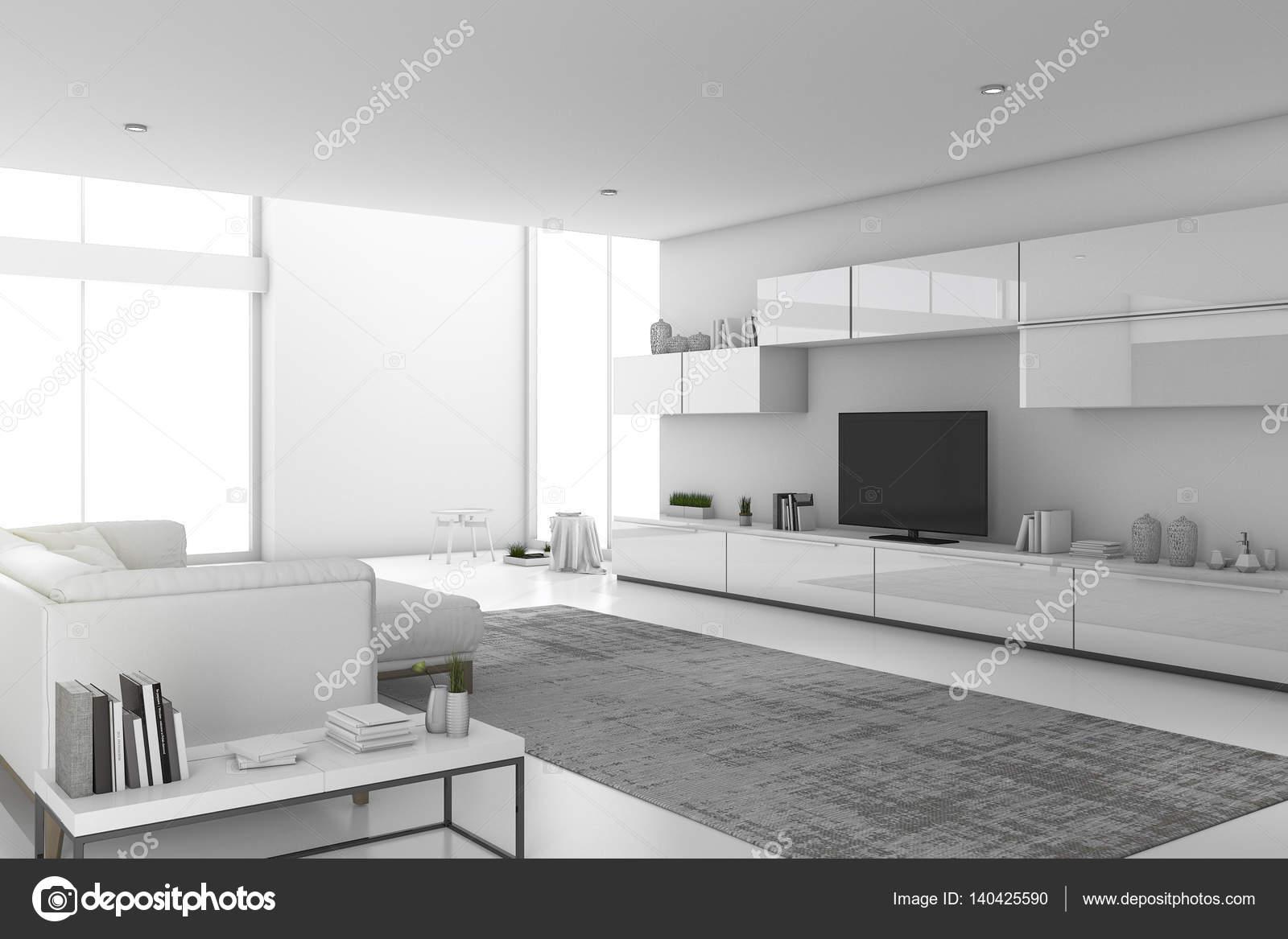 3d rendering bianco minimo soggiorno moderno con un design for Soggiorno moderno design