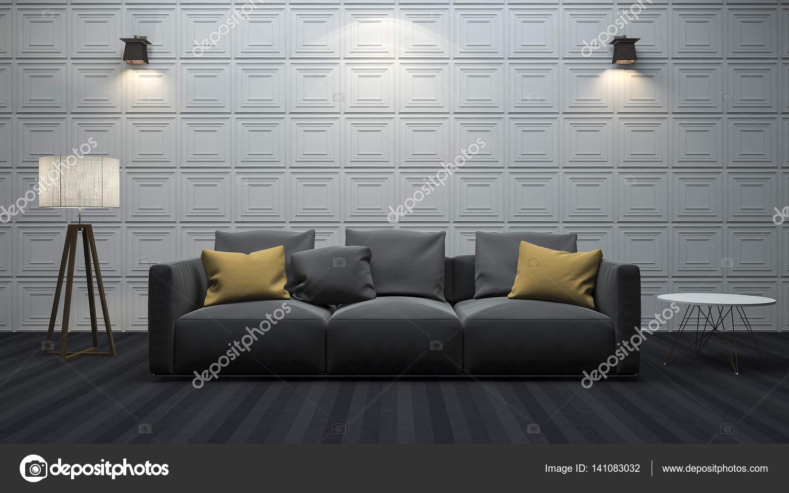 3d rendering modernes wohnzimmer mit minimalistischen stil dekoration stockfoto dit26978 - Minimalistisch dekorieren ...