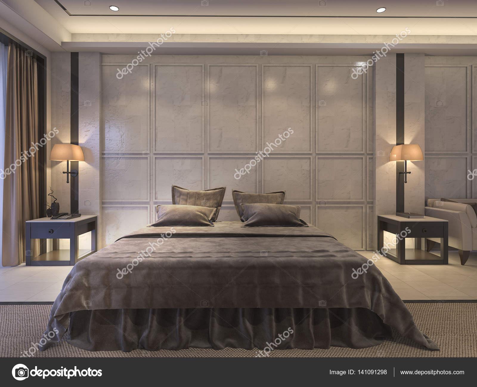 Letti Classici Di Lusso : D rendering classico camera da letto con arredamento di lusso e