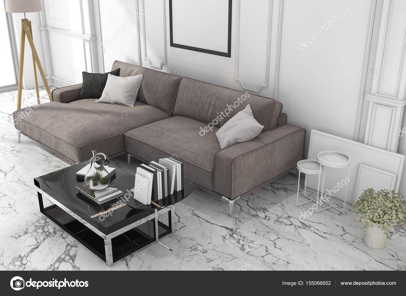 3D Rendering Mock-up Rahmen im Wohnzimmer-studio — Stockfoto ...