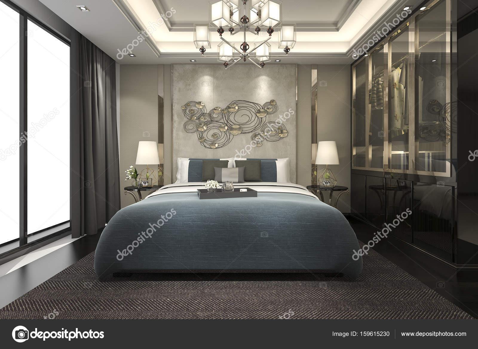bed size with walk nice image of in bedroom queen floor interior stock photo spacious closet wooden