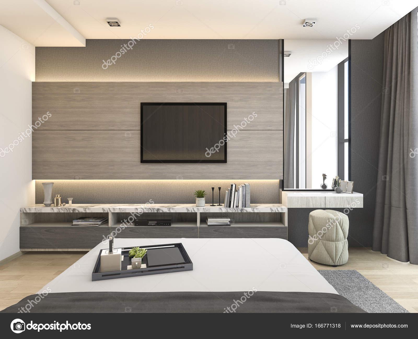 Immagini Camere Da Letto Con Cabina Armadio.Suite Camera Da Letto Moderna Di Lusso Rendering 3d In Hotel Con