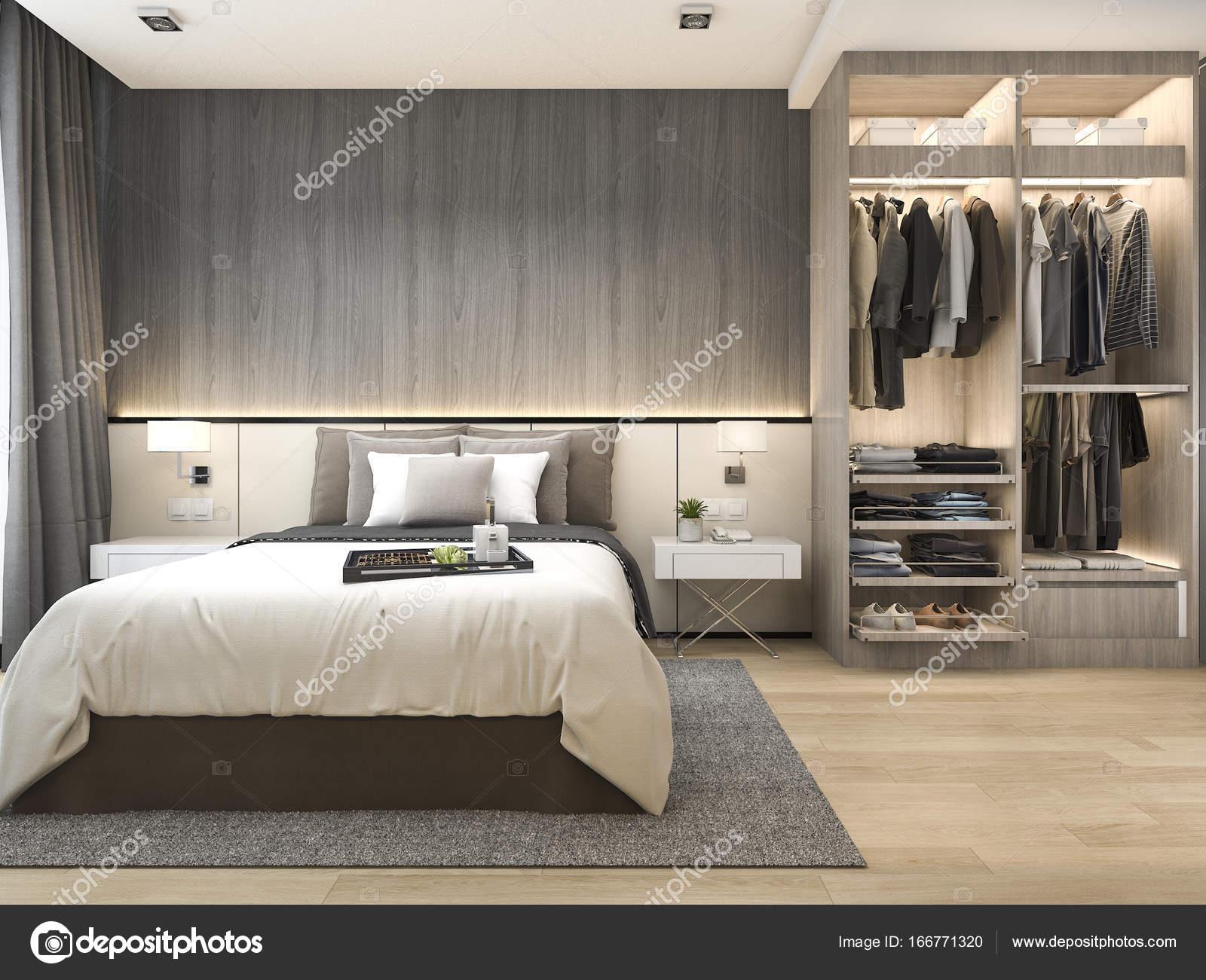 Suite camera da letto moderna di lusso rendering 3d in - Camera da letto lusso ...