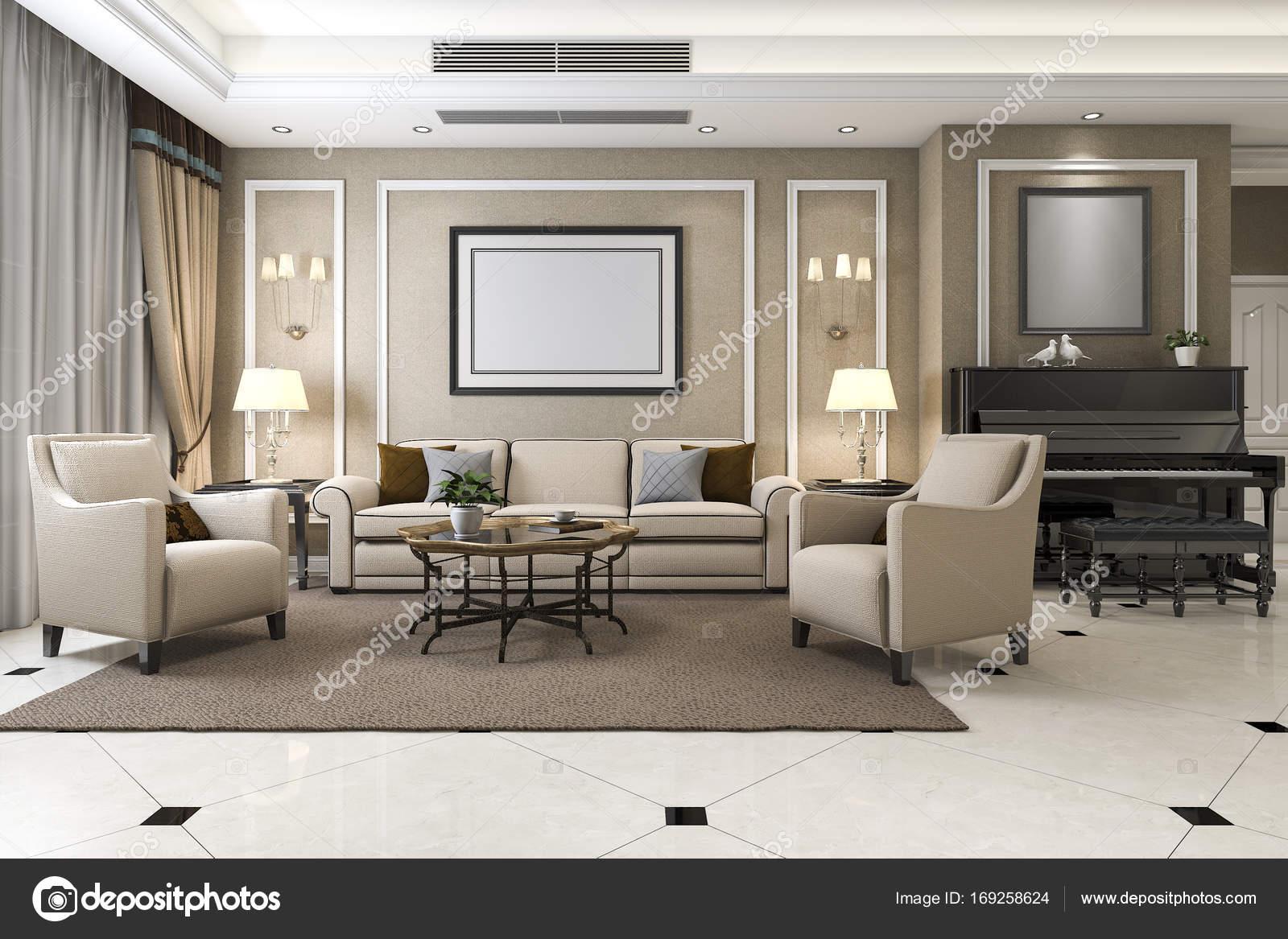 3d weergave klassieke warme woonkamer met piano en for 3d woonkamer maken