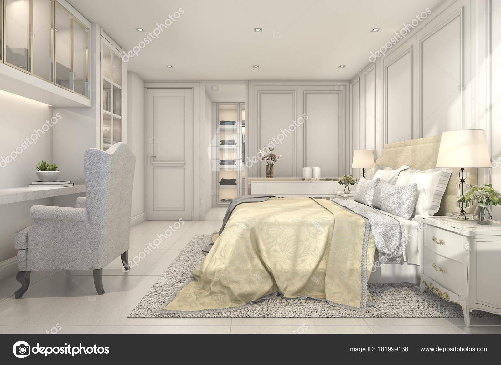 визуализации красивые старинные классические детские спальни