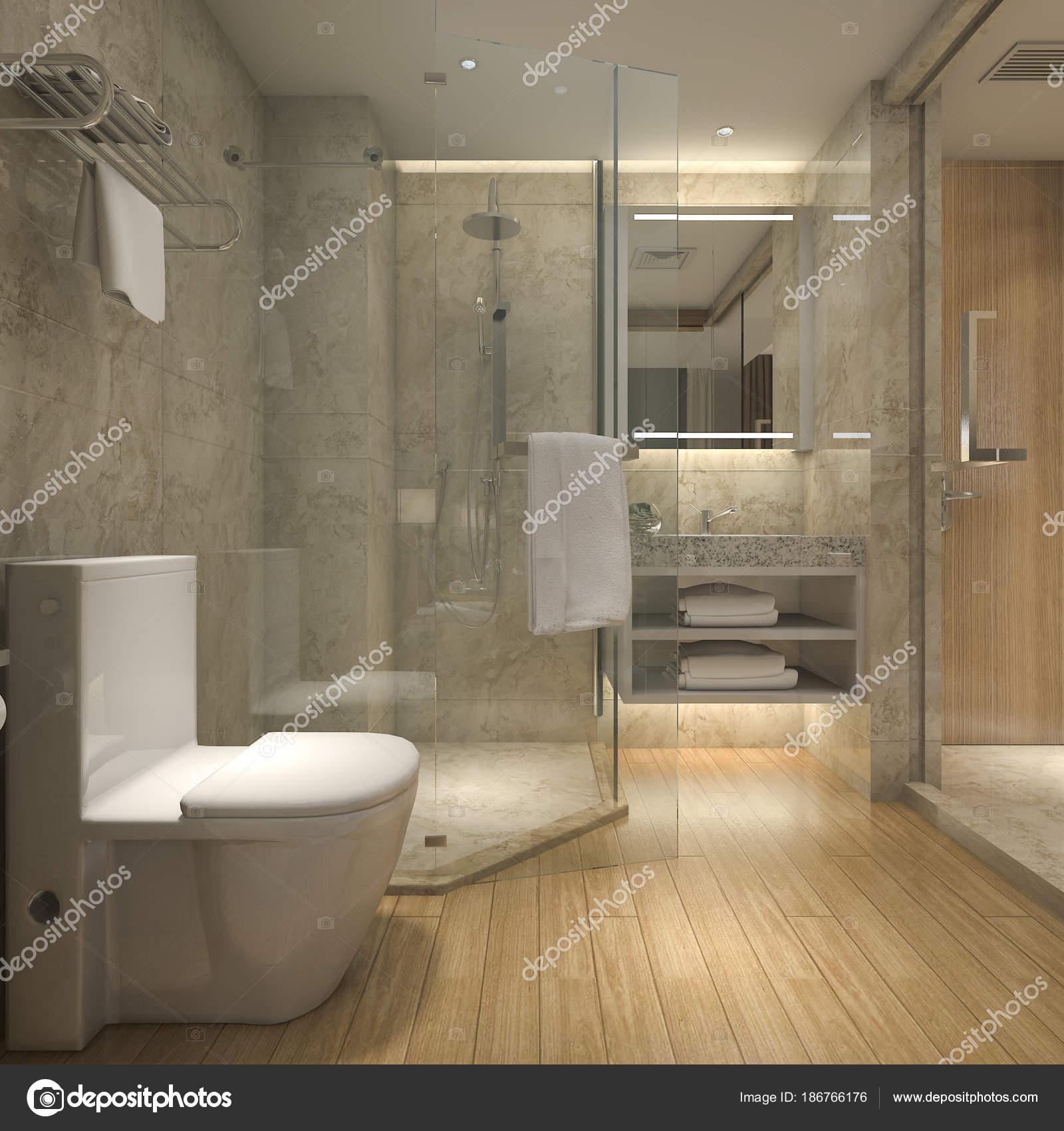 Baño Lujoso Render Moderno Lujoso Baño Madera Hotel Suite