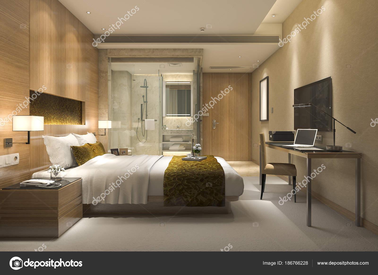 Dormitorio De Lujo Moderno Cuarto Baño Suite Dormitorio