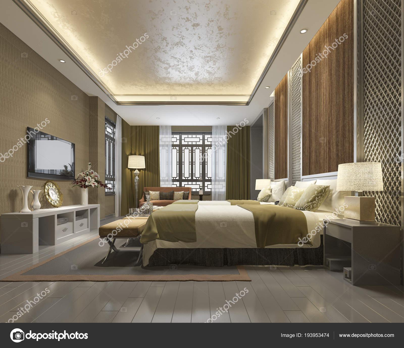 Suite Chambre Chinoise Luxe Rendu Resort Hôtel ...