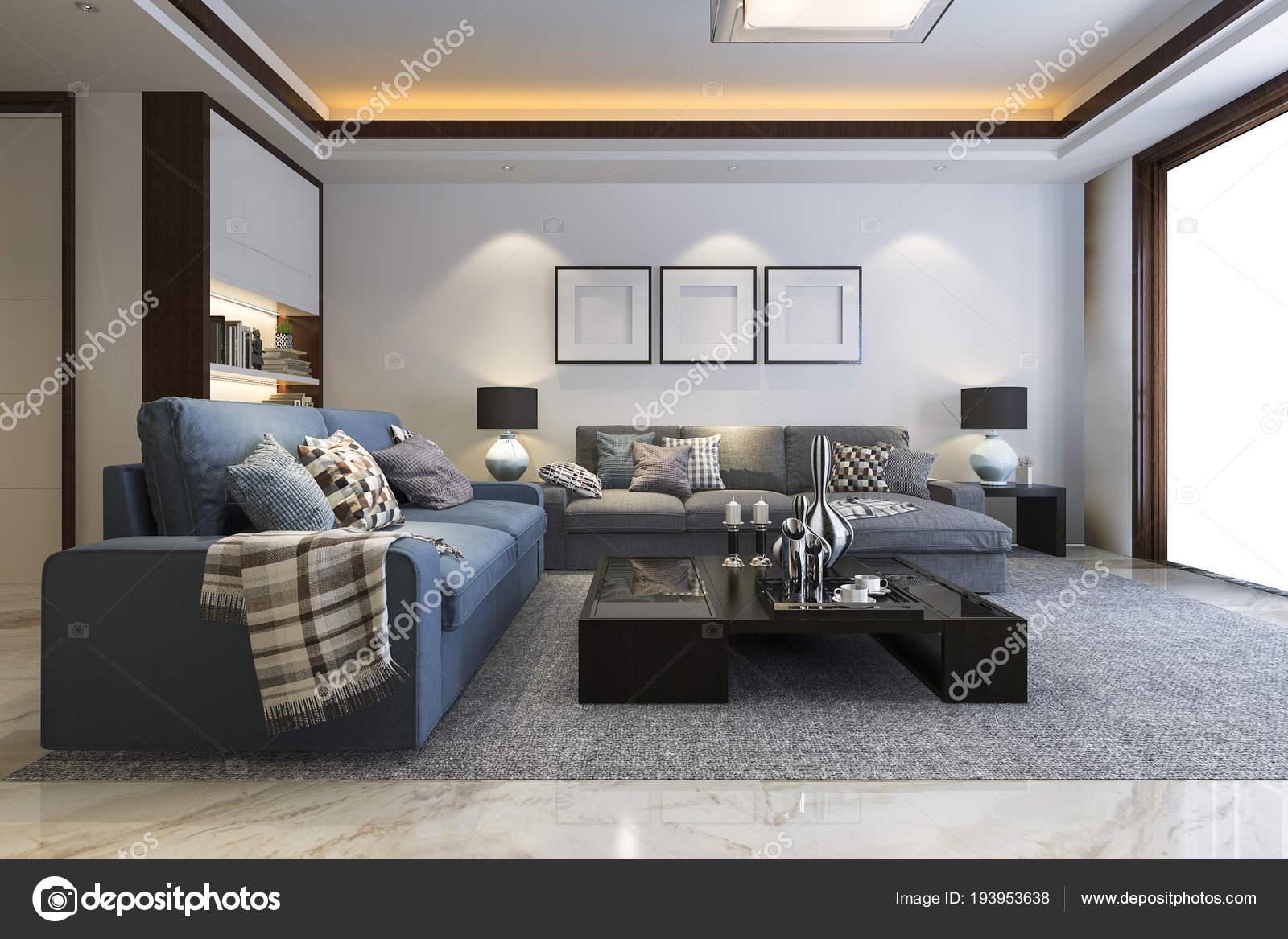 Woonkamer Met Boekenkast : Loft luxe woonkamer met boekenkast u2014 stockfoto © dit26978 #193953638