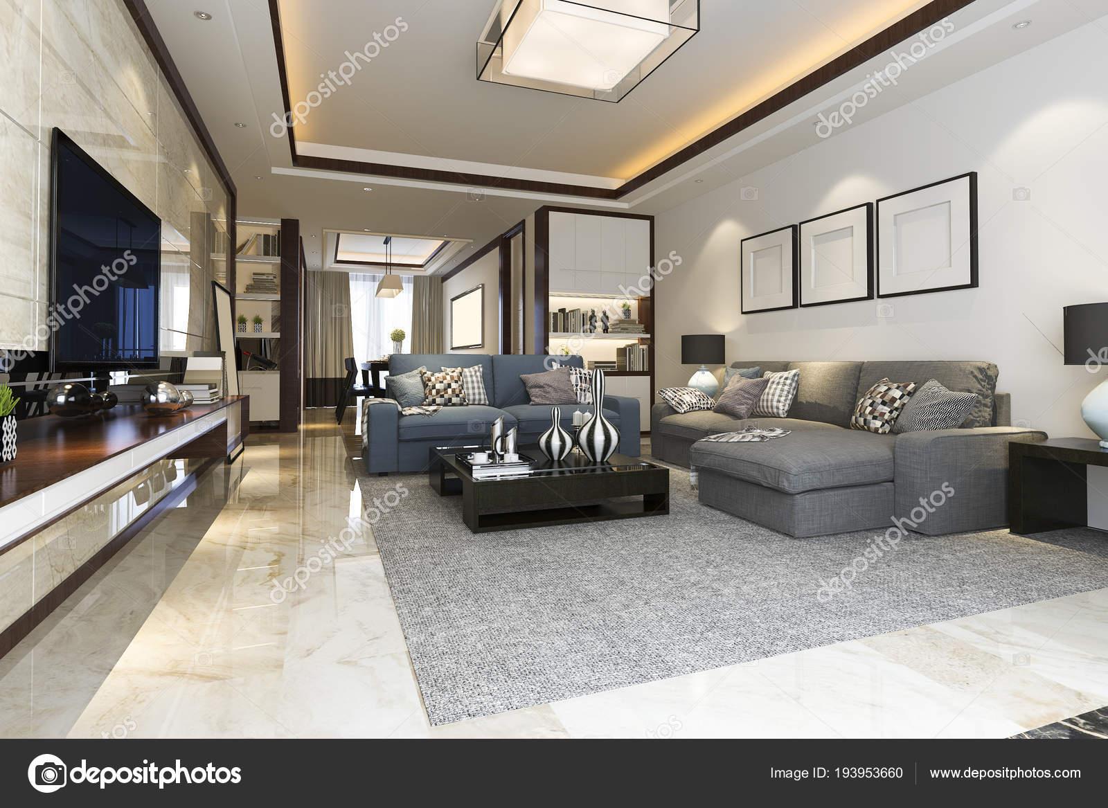 Woonkamer Met Boekenkast : Loft luxe woonkamer met boekenkast u2014 stockfoto © dit26978 #193953660