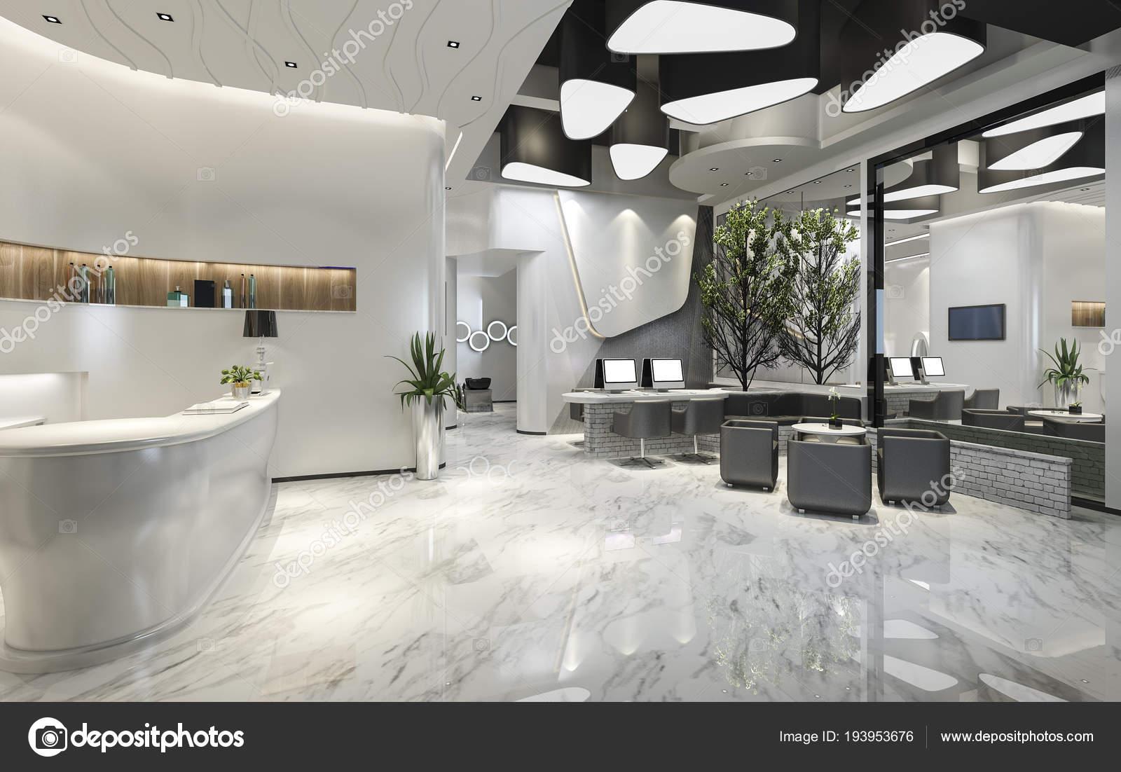 Receptie van het hotel van moderne luxe lounge u2014 stockfoto