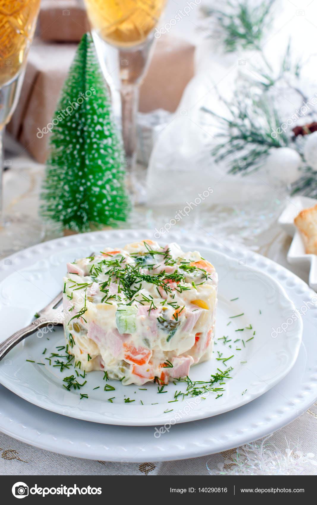 Traditionelle russische Weihnachten Salat \