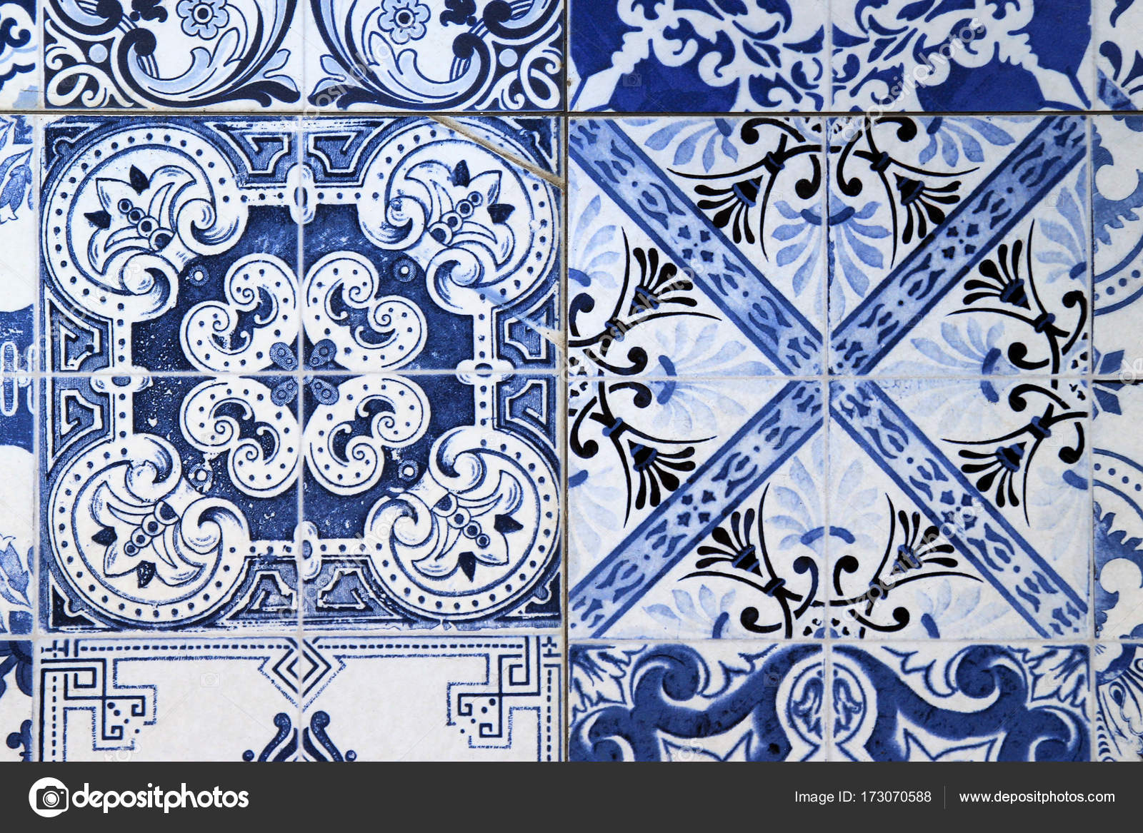 A wall from colorful ceramic tiles for background. — Stock Photo ...