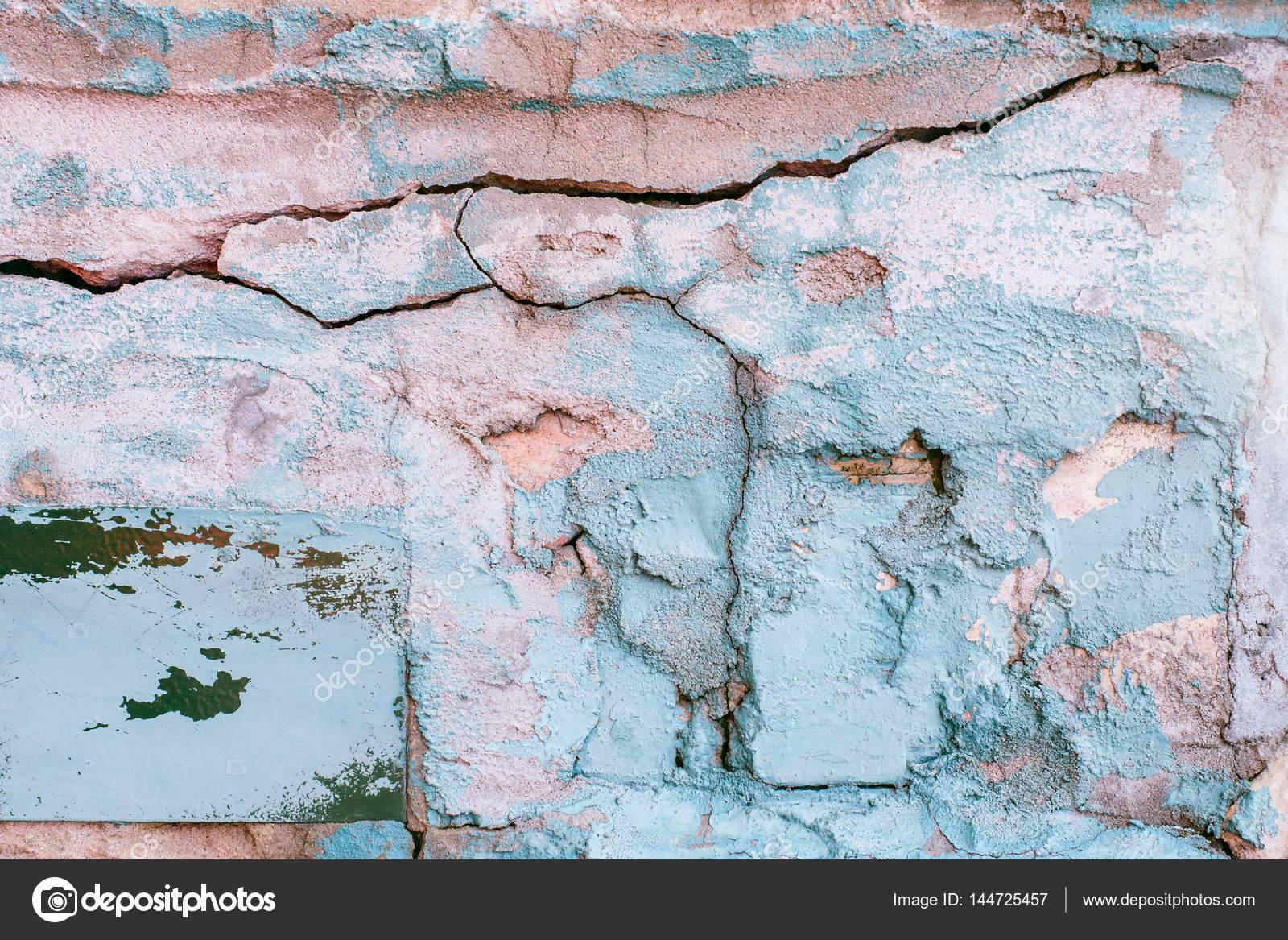 Gebroken Wit Verf : Gebroken oude muur textuur met blauwe witte roze turquoise verf