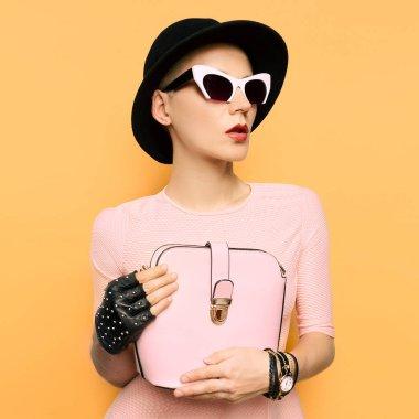 Stylish Retro Lady fashion accessories. Coco Chanel Time