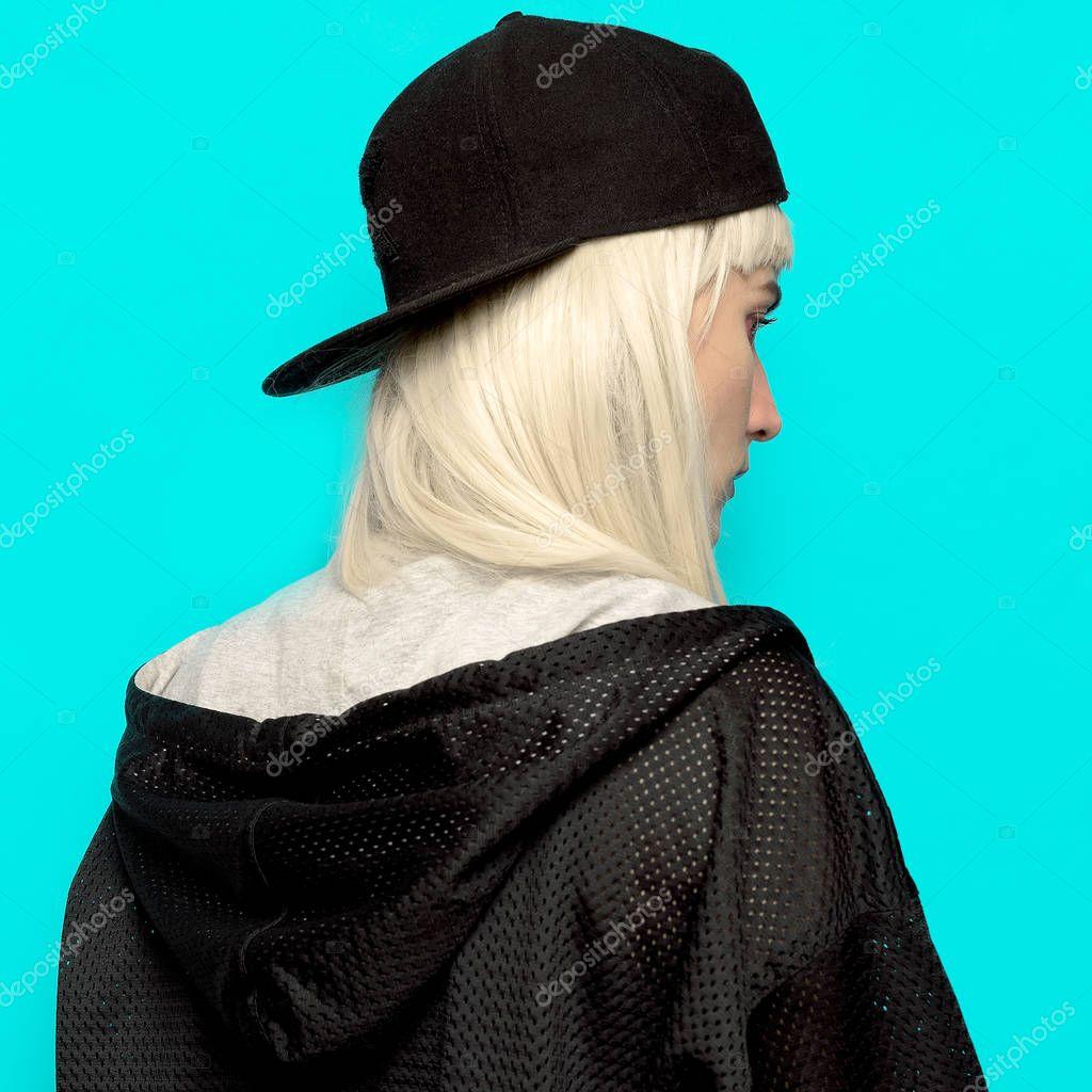 Hip Hop Girl In Cap Urban Style Swag Stock Photo C Porechenskaya