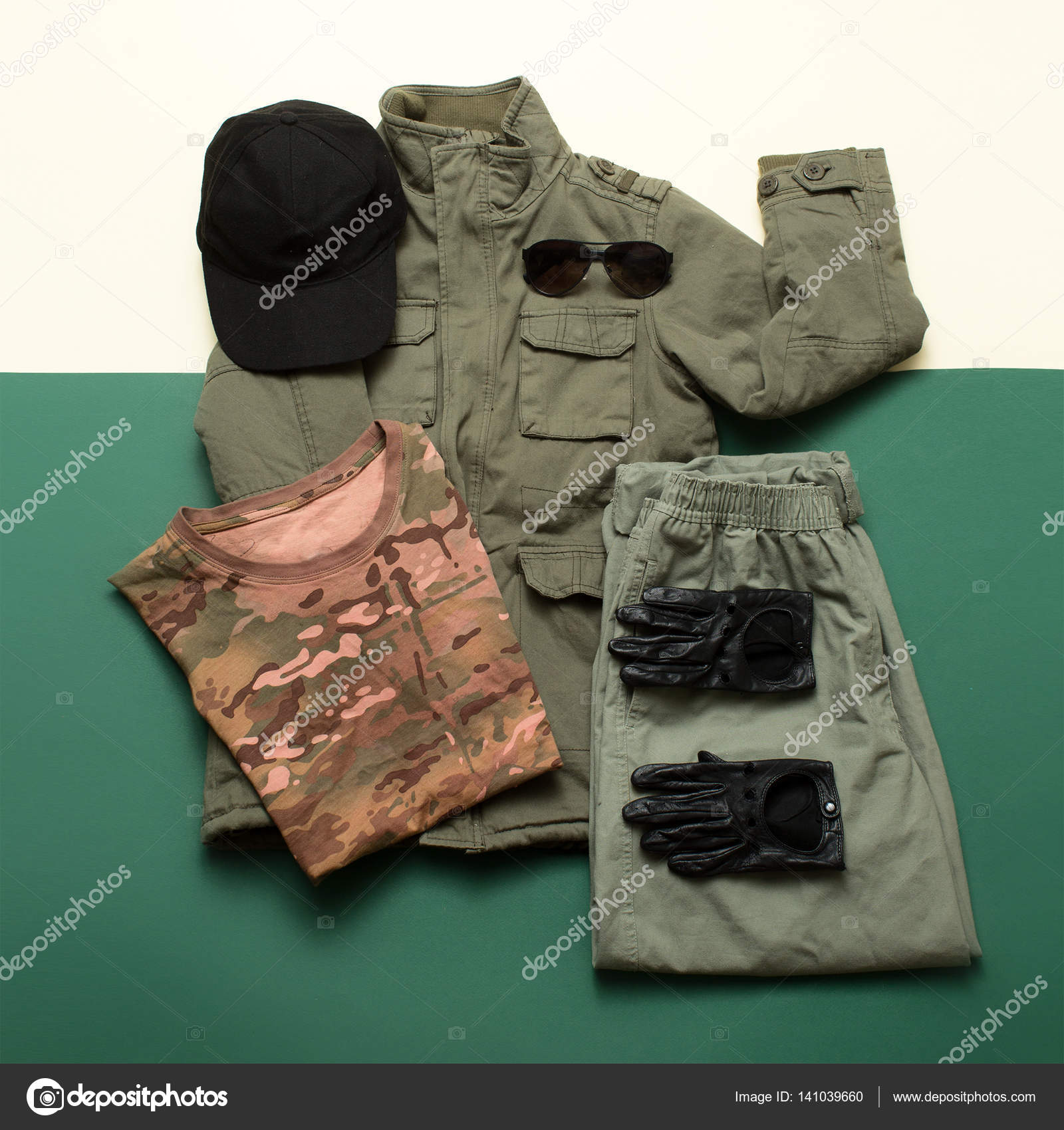 Military Style und rote Details