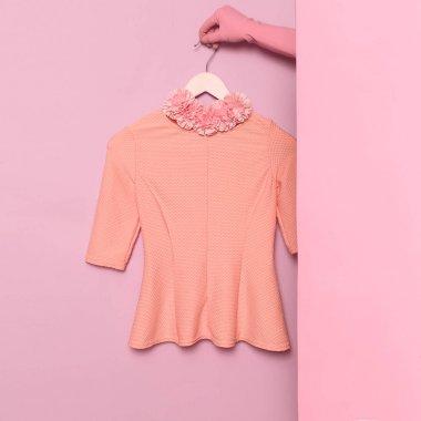 Stylish clothes. Minimal fashion. Romantic summer blouse Lady. Wardrobe Trends Ideas