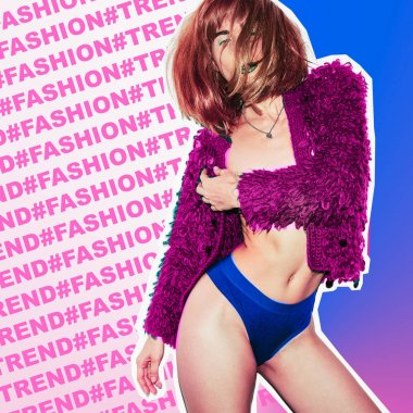 Fashion Girl Style Trend Magazine Collage Art