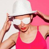 Fényképek Strand kiegészítők minimális kalap és szemüveg Start nyaralás