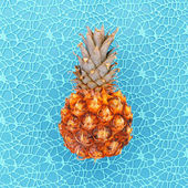 Fotografie Mini-Ananas Meer Modekonzept Minimal Art design Candy Colo