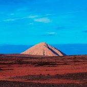 Fotografie Canary Islands. Fuerteventura. Nature.  Mountains. Minimal Desig